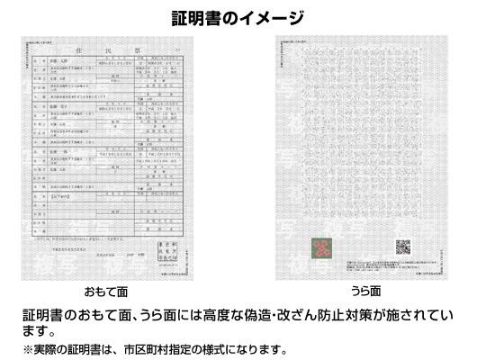 証明書のイメージ
